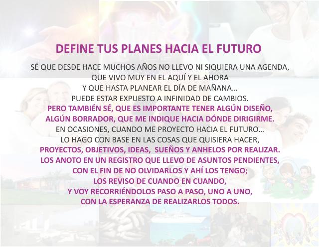 Define tus planes hacia el futuro Diciembre 29 de 2012