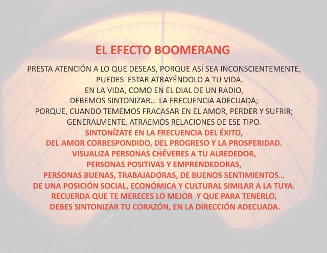 El afecto boomerang Noviembre 28 de 2012