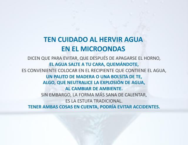 Ten cuidado al hervir agua en el microondas Noviembre 29 de 2012